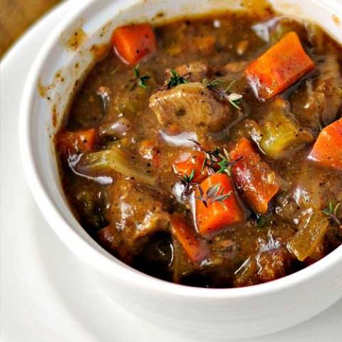 Here's a good old-fashioned stew with rich beef gravy that lets all of the flavors come through. This is the perfect hearty dish for a blustery winter day.