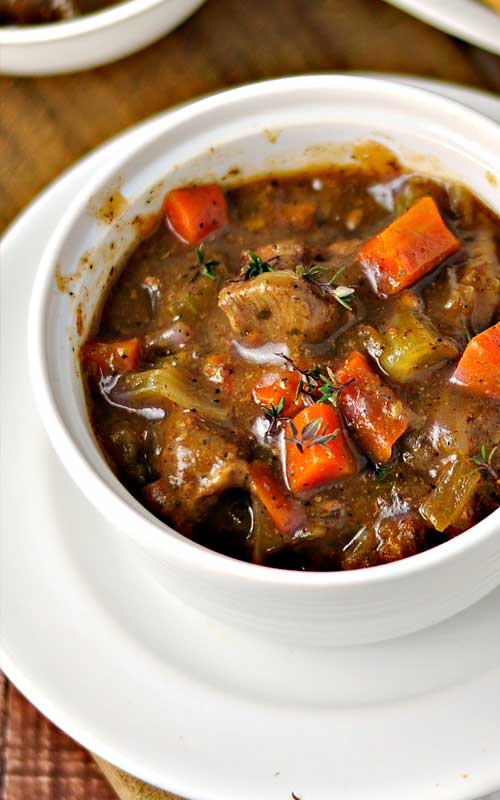 Here's a good classic stew with rich beef gravy that lets all of the flavors come through. This is the perfect hearty dish for a blustery winter day.