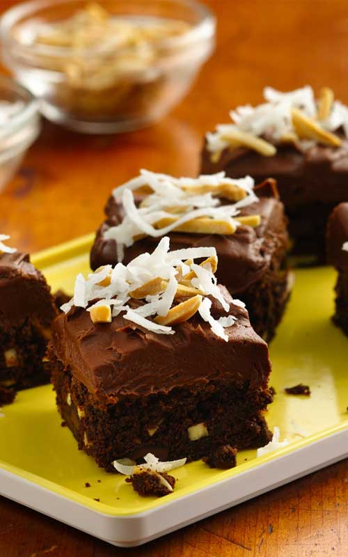 These indulgent buttery rich Chocolate Chunk Almond Brownies are accented with coconut and almonds, perfect for the holidays!