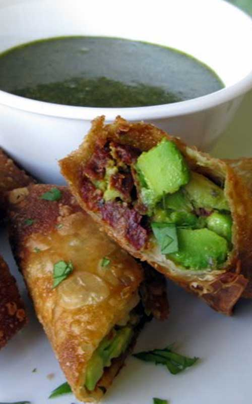 Recipe for Copycat Cheesecake Factory Avocado Egg Rolls - Whip up a restaurant favorite at home with a quick and easy recipe for avocado egg rolls made with just five ingredients.