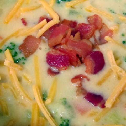 Recipe for Loaded Broccoli Cheese and Potato Soup - so full of flavor and so many delicious ingredients. This soup will keep you warm and full any time of year!