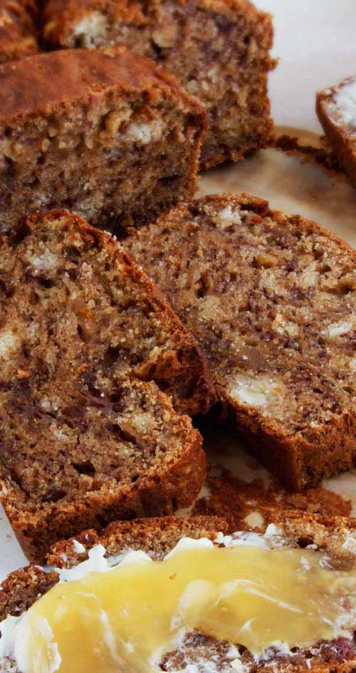 This is the best banana bread I have ever had. I buy really ripe bananas just so I can make this! #bananas #bananabread