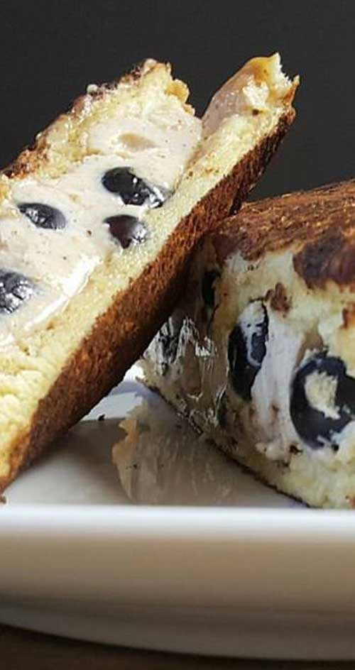 Take your breakfast up a notch with this deliciously sweet Blueberry Stuffed French Toast. #breakfast #frenchtoast #blueberries