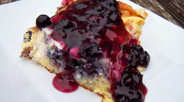Recipe for Blueberry French Toast - The french toast casserole is loaded with bread, cream cheese, and blueberries. My favorite part is the sauce - I have no doubt that we'll be making this sauce over and over again to pour on our pancakes or ice cream. It's absolutely delicious.