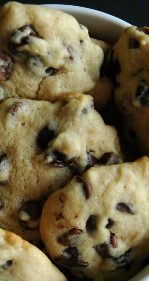 Recipe for Soft Chocolate Chip Cookies - Lots of hands will reach for the cookie jar when these favorites are inside! Keep it filled with ease, since this recipe makes a bunch.