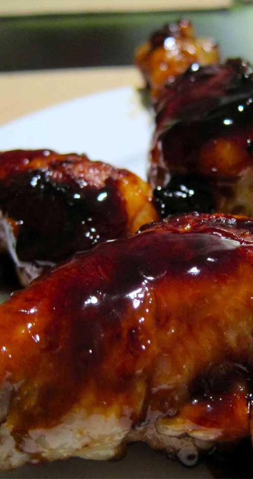 These sweet and sticky chicken drumsticks are easy to make and everyone loves them. Great as an appetizer or as a main dish served with rice and a veggie.