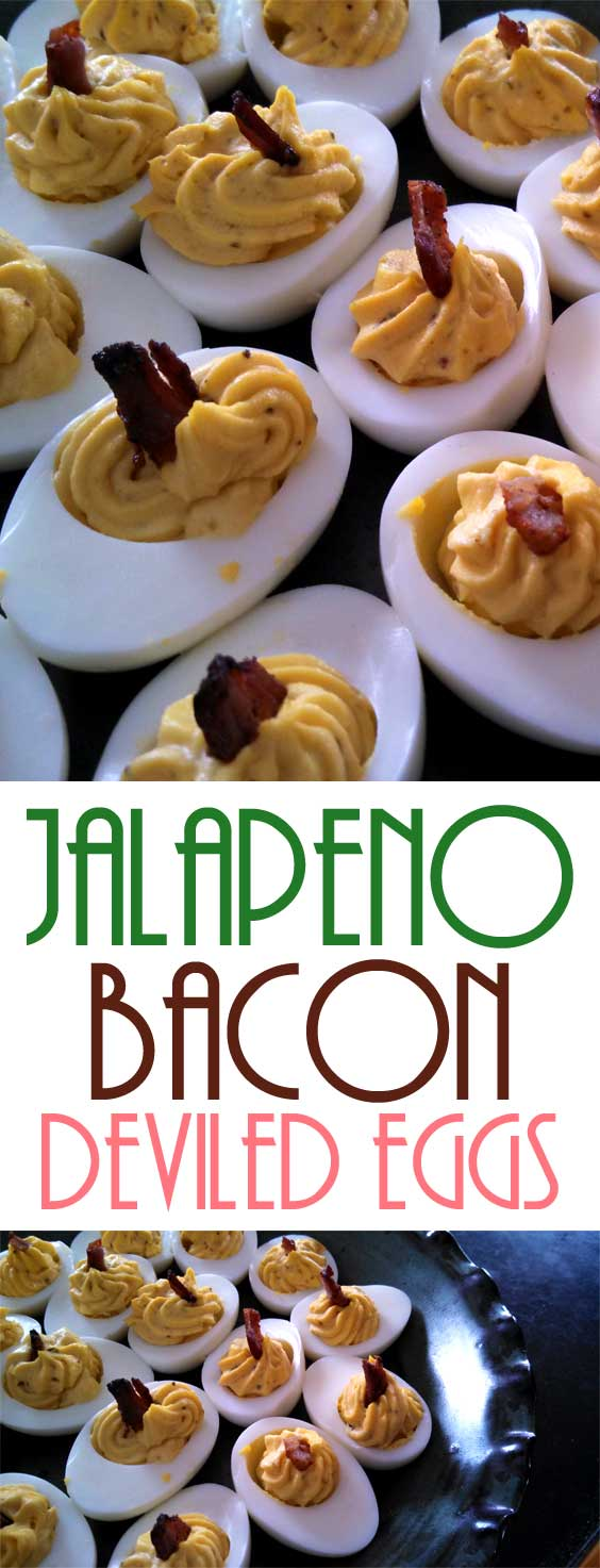 Deviled eggs are a must-have on Easter Sunday. And this Jalapeno bacon deviled eggs recipe add zest to the classic. #eggrecipe #easter #partyfood #holiday