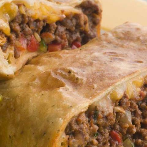 Recipe for Skinny Chimichangas - This is an excellent low fat chimchanga recipe. It is baked, instead of deep-fried. The burrito comes out crispy with a moist and flavorful filling.