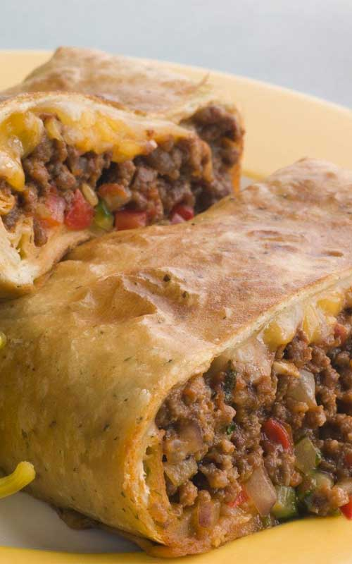 This is an excellent skinny chimchanga recipe. It is baked, instead of deep-fried. The chimchangas comes out crispy with a moist and flavorful filling.