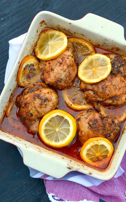 Mediterranean Spiced Lemon Roasted Chicken