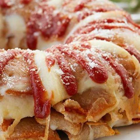 Recipe for Pizza Roll Bundt Cake - This Pizza Roll bundt cake is the kind of recipe that will blow your mind. While tasty, it is not the healthiest meal so you'll want to save this one for your cheat day.
