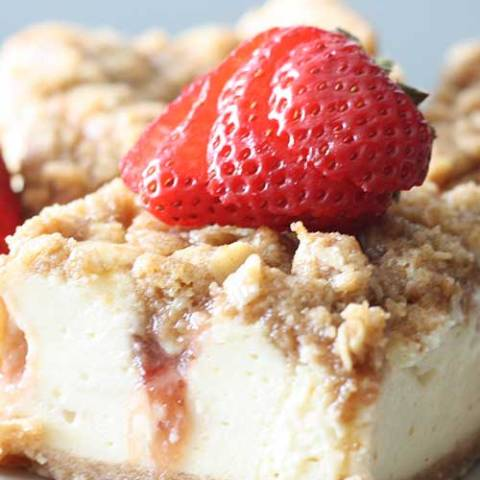"Recipe for Strawberry Cheesecake Bars - ""Wow!"" That's what the reaction will be when you serve these delectable Strawberry Cheesecake Bars."