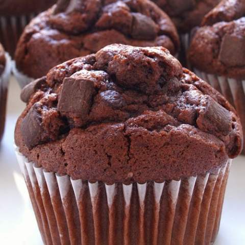 A delicious chocolate chunk muffin mix for when the chocolate chips just won't cut it. An easy to make recipe for a sweet treat in the morning.