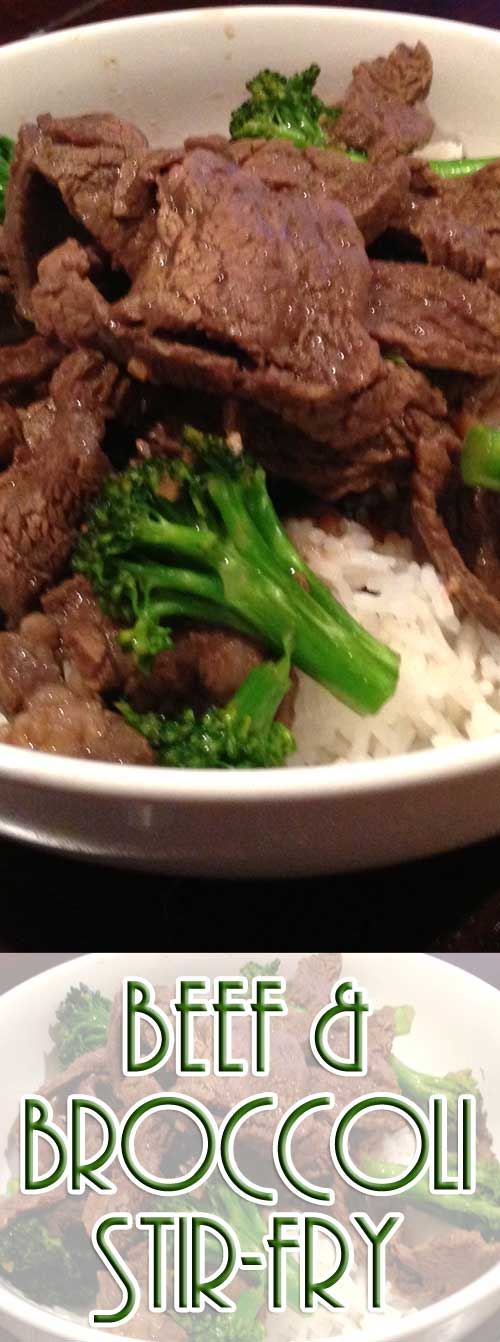 If you have a craving for Asian cuisine, give this Broccoli and Beef Stir Fry Recipe a try. It's super simple and oh so good. #beefrecipe #chinesefood #stirfry #easyrecipe