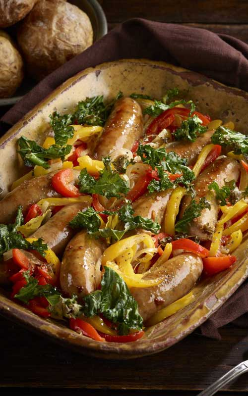 Italian Sausage Stew With Peppers And Crispy Kale