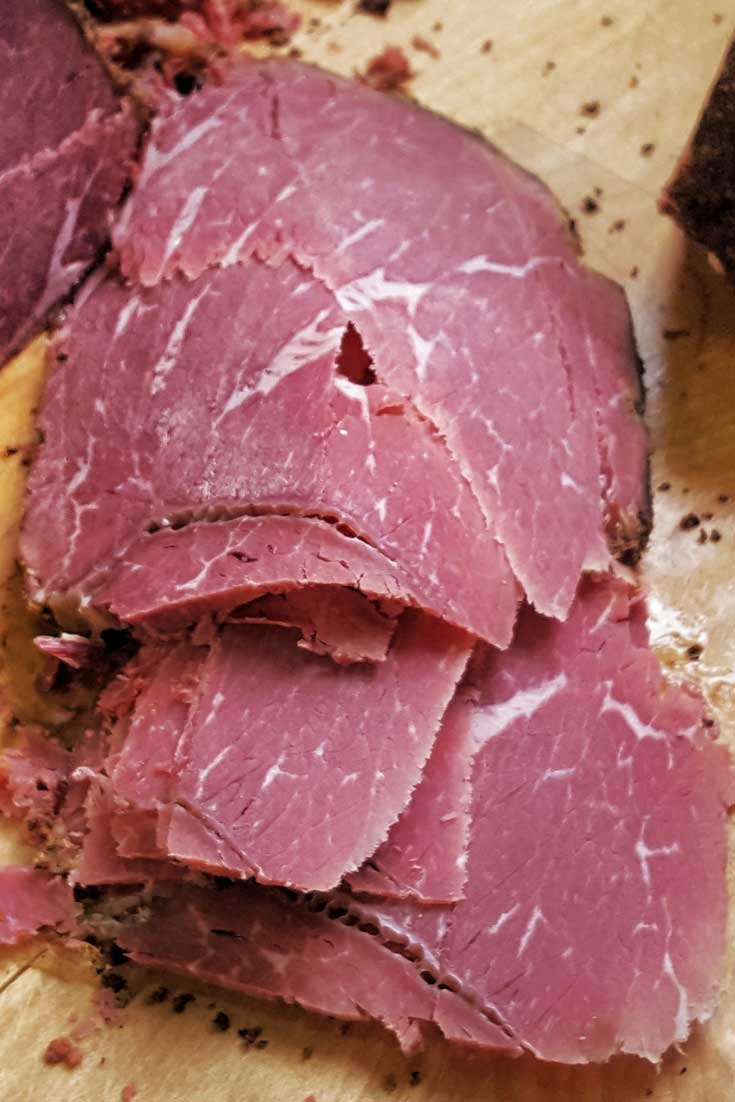 If you want the punch of a spicy, intensely aromatic pastrami, then this homemade pastrami recipe will have you smiling from the first mustard-smeared bite to the last. #beef #brisket #pastrami