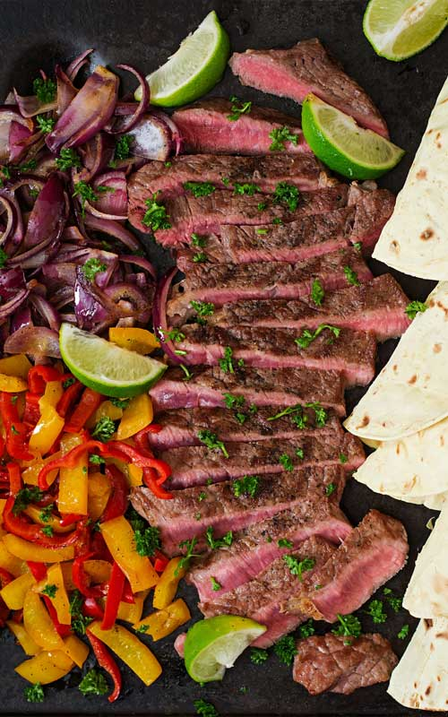 Margarita Steak Fajitas