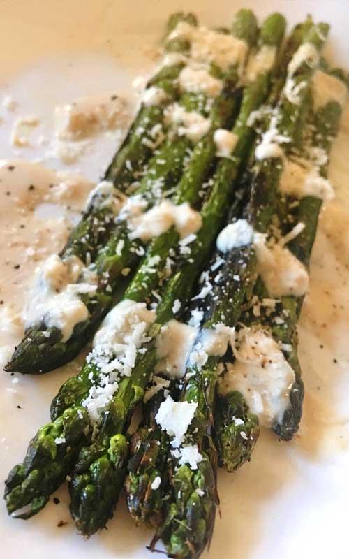 Caesar Grilled Asparagus Salad