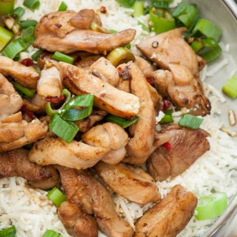 Do you love Kung Pao Chicken? This recipe is a healthier twist on the takeout classic, so there is no need to feel guilty if you have a craving. This recipe is also super fast and easy...so that craving may come on even more often!