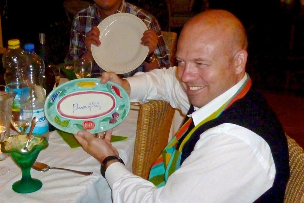 Flavor of Italy Culinary Team Building Vietri plate