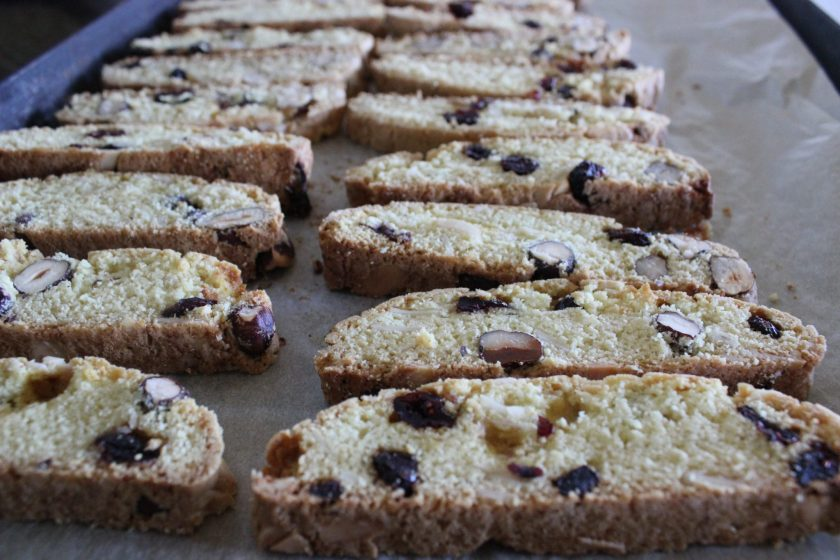 Cranberry Hazelnut Biscotti are a delicious addition to your holiday menu as they incorporate one of the top holiday ingredients: cranberries. Make in advance and use the whole holiday season!