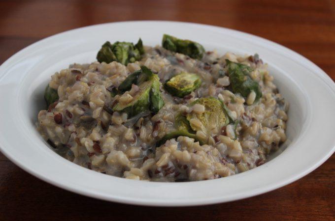 Brussels Sprouts Risotto with Gorgonzola Dolce