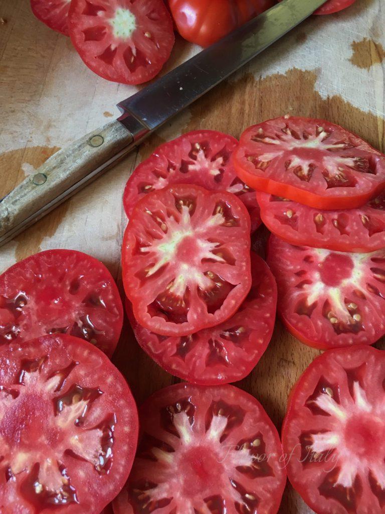 Use sliced tomatoes for the Tomato Ricotta Tart