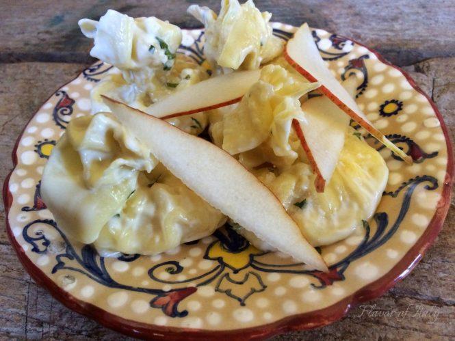 Pear and Ricotta Filled Fagottini Pasta