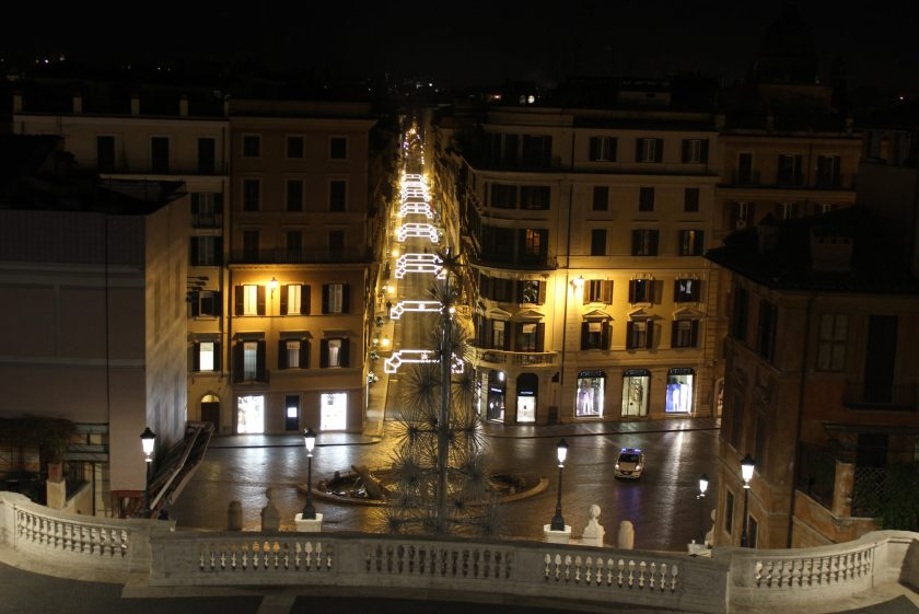 Via Condotti at Christmas