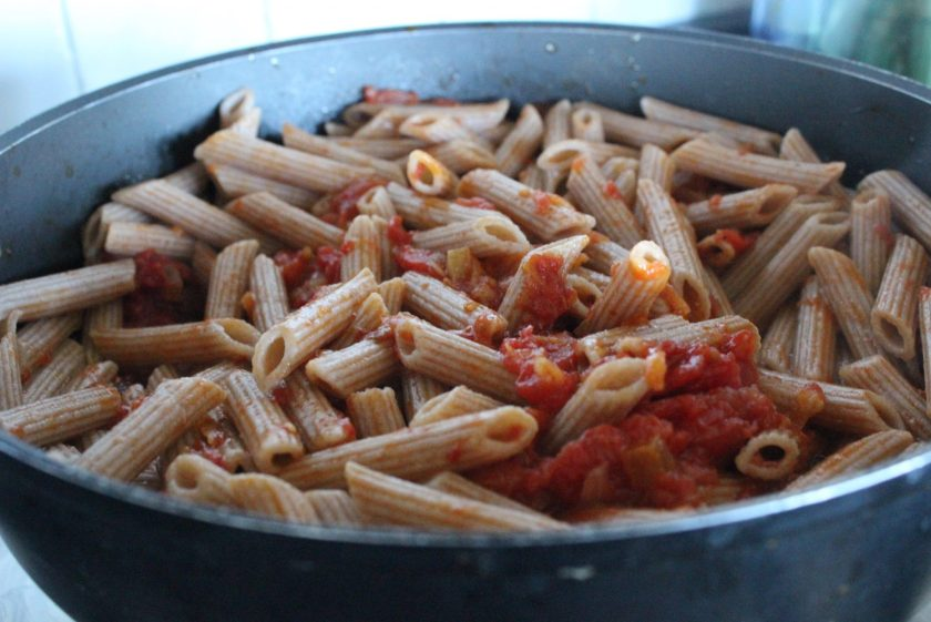 Luscious penne all'amatriciana