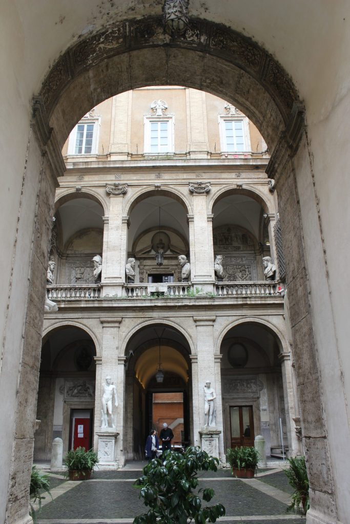 Palazzo Mattei di Giove entrance and courtyard