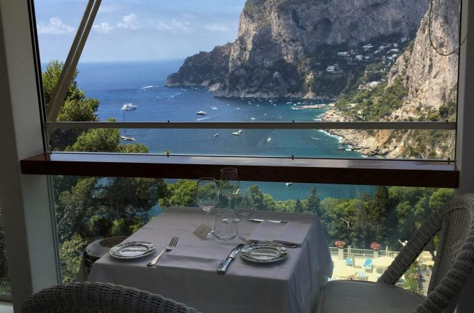 A table for two, with a delicious view. Capri, Italy