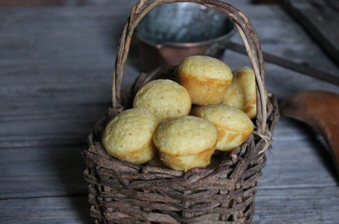 Corn bread and muffins made with freshly ground cornmeal