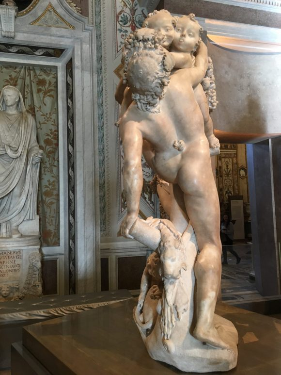 Bacchanal: A Faun Teased by Children, 1615. Bernini exhibit at the Galleria Borghese in Rome, January 2018