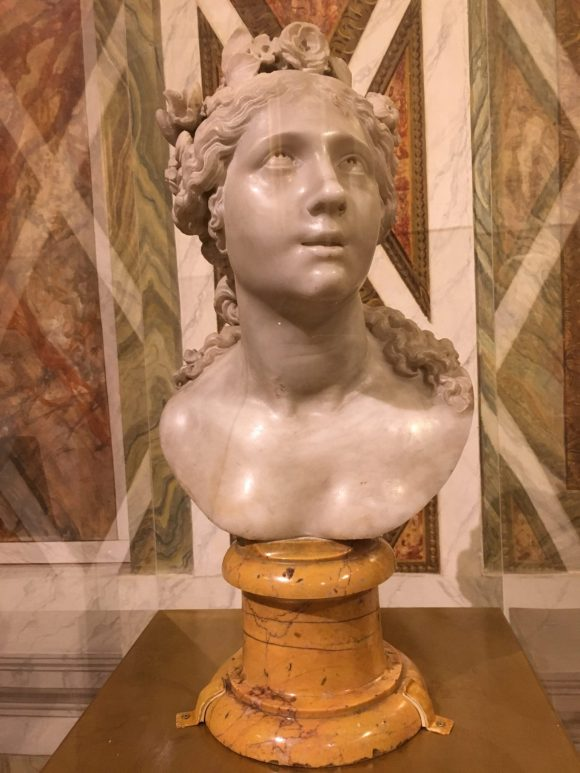 Blessed Soul bust, Bernini exhibit at the Galleria Borghese in Rome, January 2018