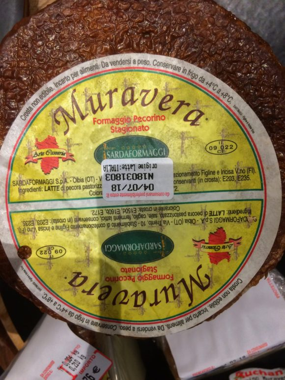 stagionato pecorino cheese from sardegna