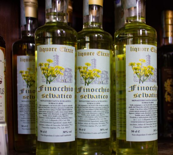 Saint Benedict Monastery Liqueurs Subiaco made with wild fennel blossoms