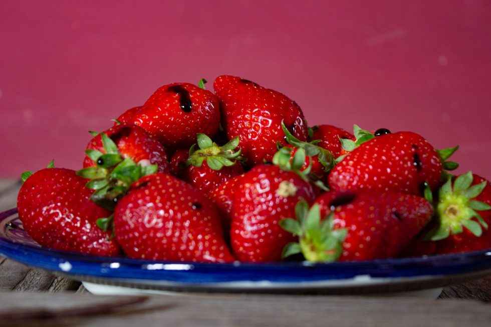 Strawberries with IGP Balsamic Vinegar of Modena
