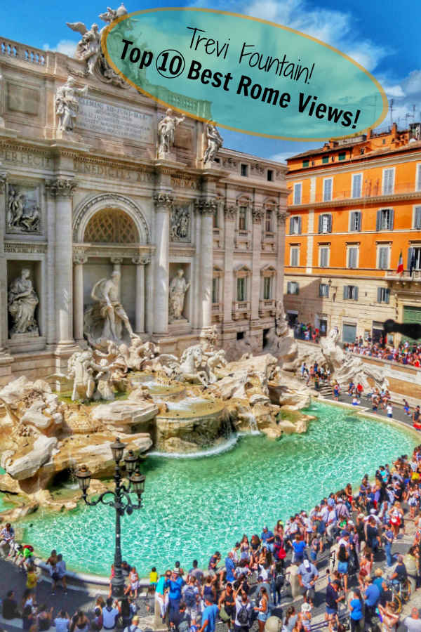If you haven't visited the Trevi Fountain yet then get it on your to-do list for must-sees in Rome bucket then add it right away! It's one of Rome's most beautiful views!