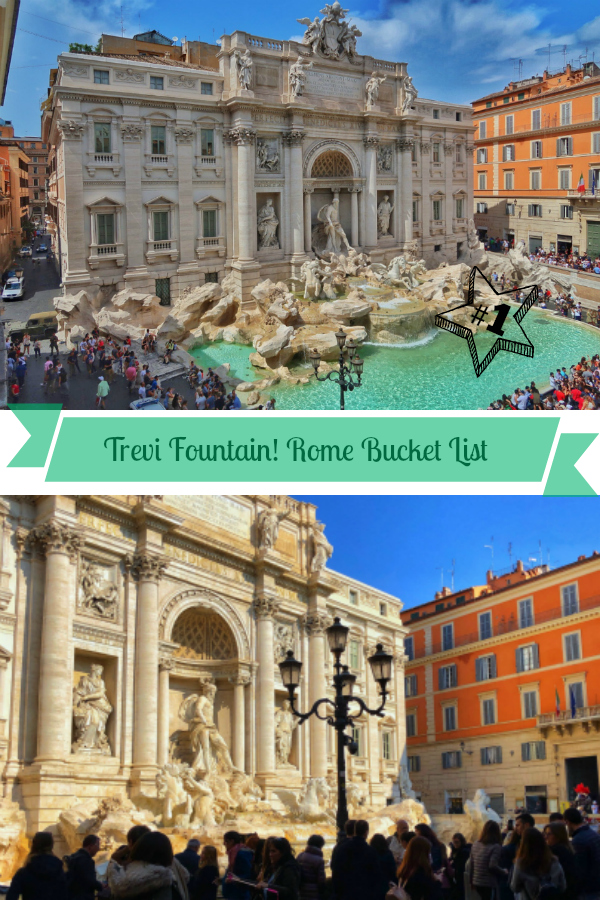 If the Trevi Fountain isn't on your Rome bucket then add it right away! It's story is fascinating and it's one of Rome's most beautiful views!