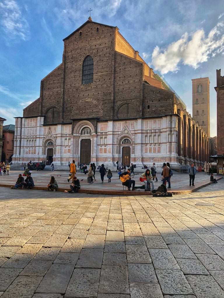 The Basilica di San Petronio in Piazza Maggiore, Bologna is the 10th largest in Europe