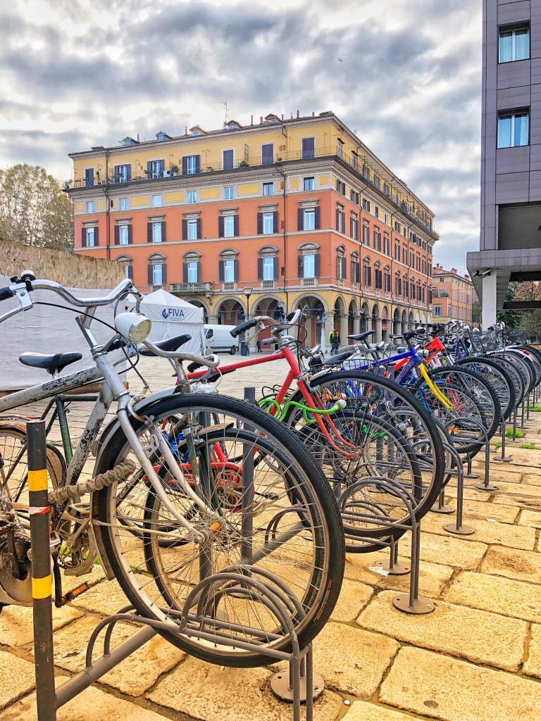 Bicycling in Bologna is a common way to get around the city