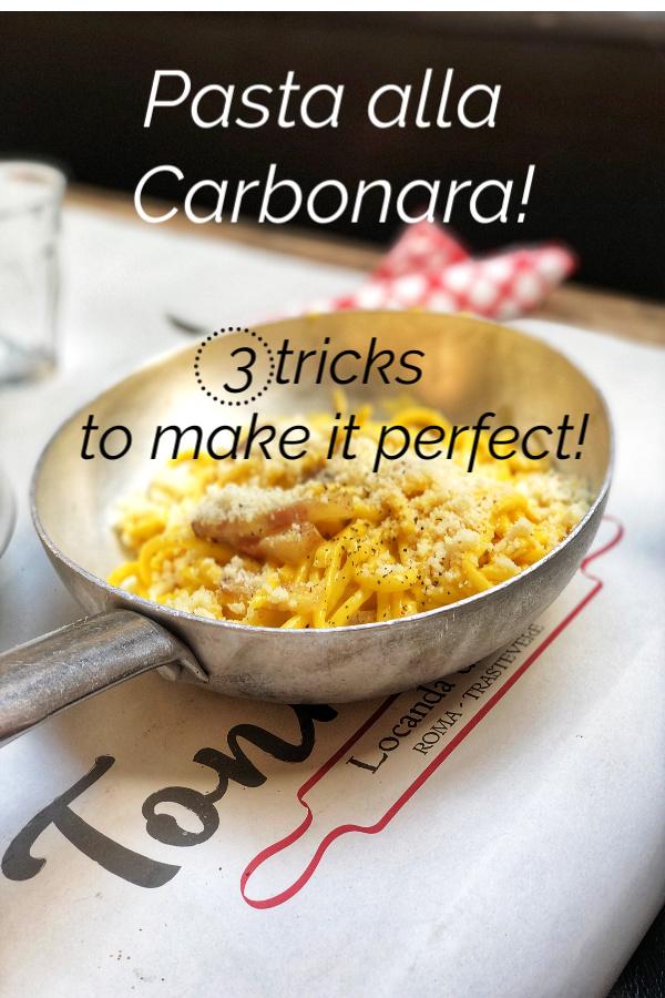 Pasta alla Carbonara: the 3 tricks to make it perfect!