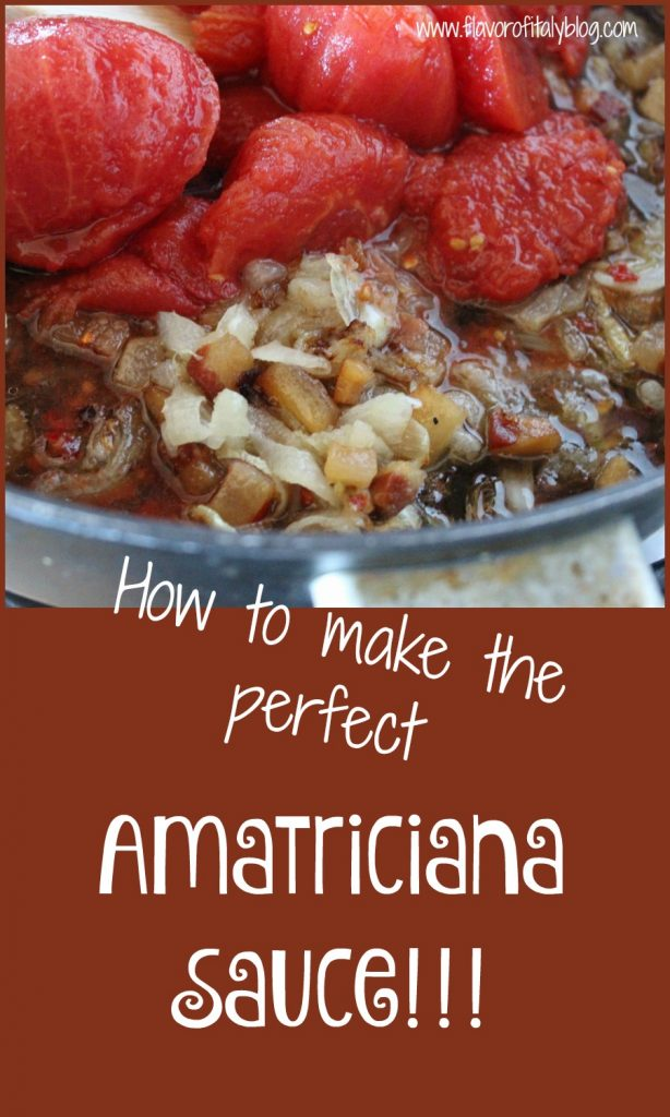 How to make a perfect Amatriciana sauce!