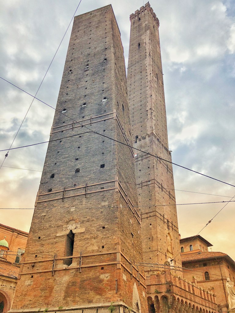 Two Towers of Bologna date back to the 12th century