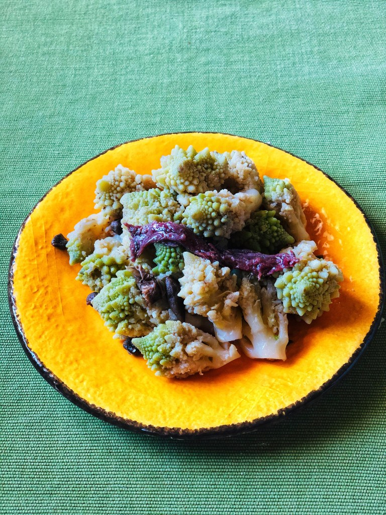 Steamed cauliflower florets with a balsamic, caper and anchovy dressing Is a fabulous appetizer or side dish