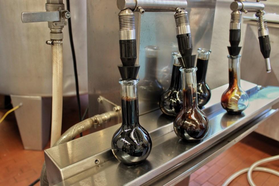 Bottling IGP balsamic vinegar