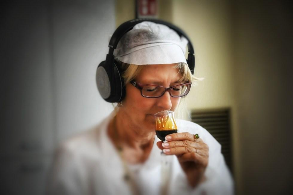 Tasting balsamic vinegar uses all the senses