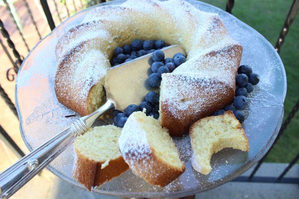 Blueberry Ciambellone Breakfast Poundcake is also great for dessert!