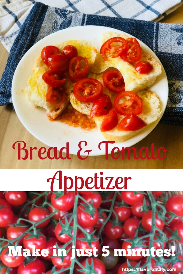 Bread and tomato appetizer that you can make in just five minutes!